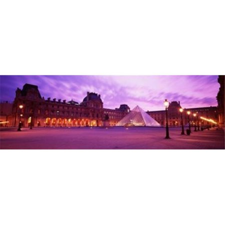 Famous Museum  Sunset  Lit Up At Night  Louvre  Paris  France Poster Print by  - 36 x 12 - image 1 of 1