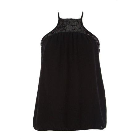 Black Sequin Halter - FORNARINA Women's Manu Bis Sequin Accent Halter Top Sz Small Black