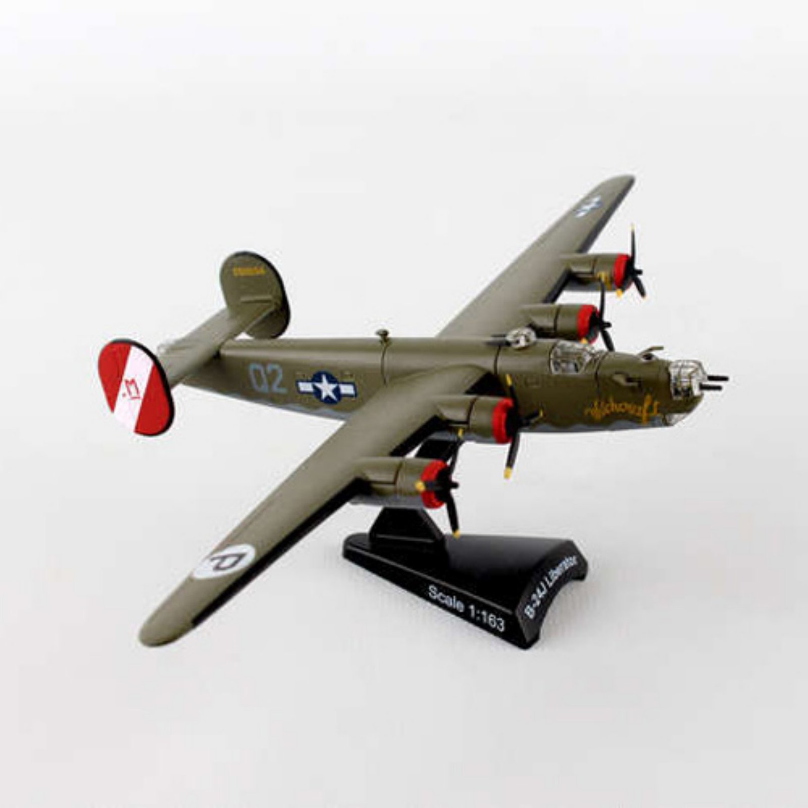 Postage Stamp B-24 Liberator Witchcraft Model Airplane by DARON