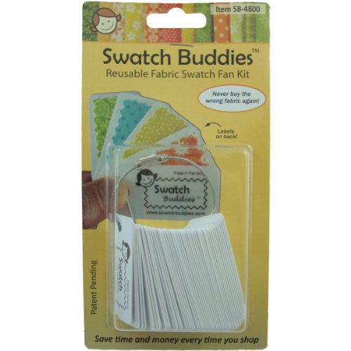 Swatch Buddies SB-4800 Fabric Fan, White, 48-Pack Multi-Colored