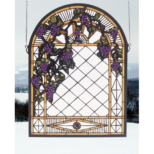 Meyda Tiffany 38656 Stained Glass Tiffany Window from the Country Living Collect by Meyda Tiffany