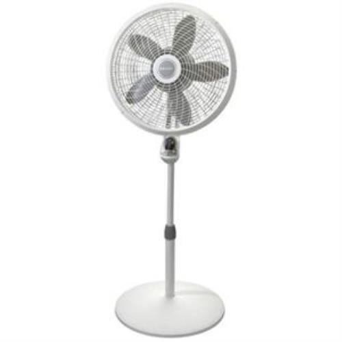 "Lasko 18"" Remote Control Cyclone Pedestal Fan With White ..."