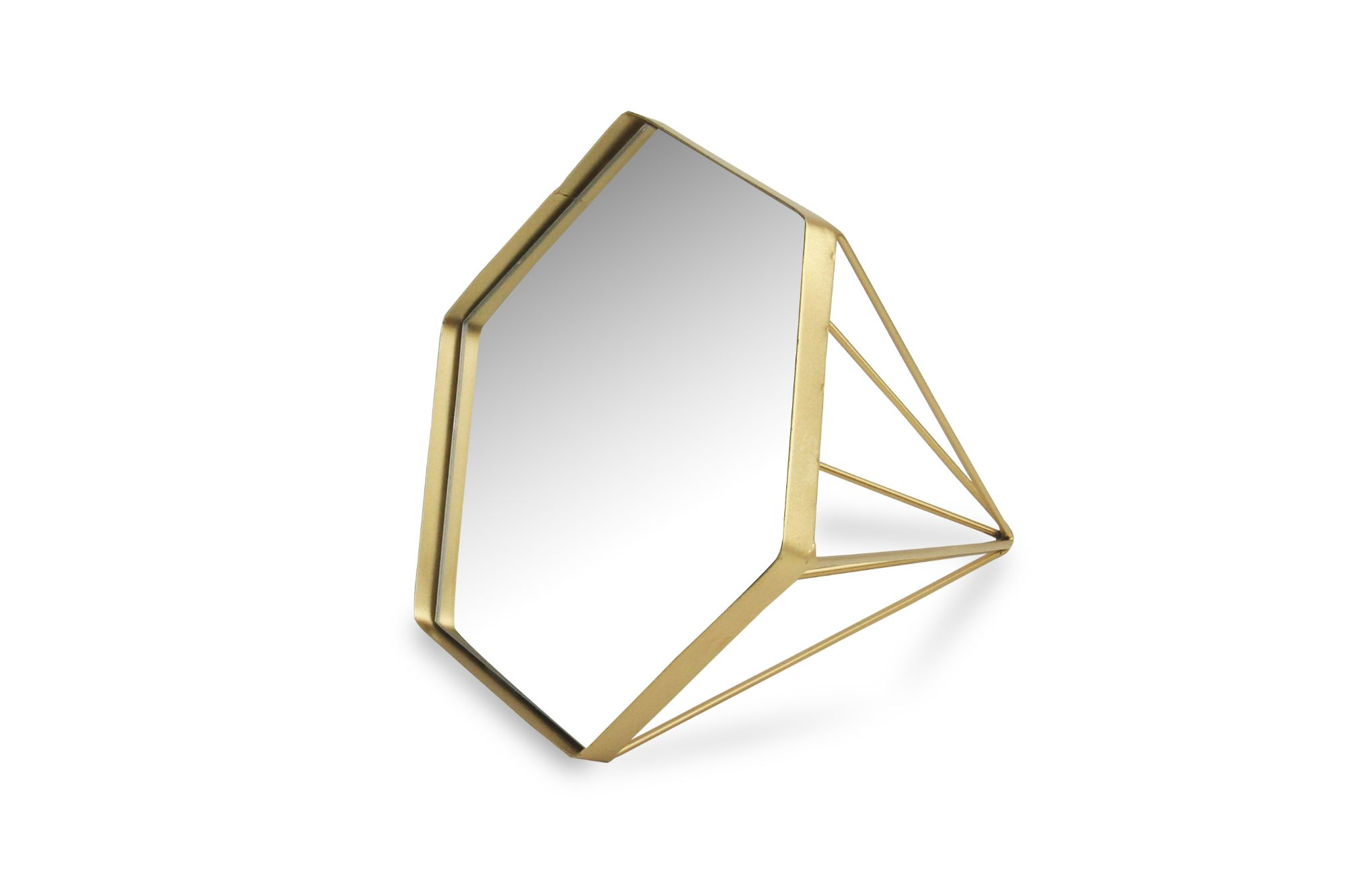 Cheungs 5409 Metal Diamond Shaped Mirror 44 Gold Walmart Com Walmart Com
