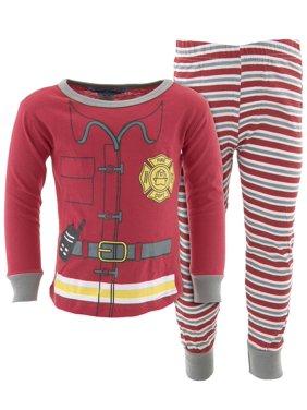 Dead Tired Boys Red Fireman Cotton Pajamas