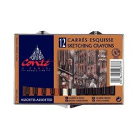 Conte 50205 Cololr Crayon Matchbox - Pack of 4