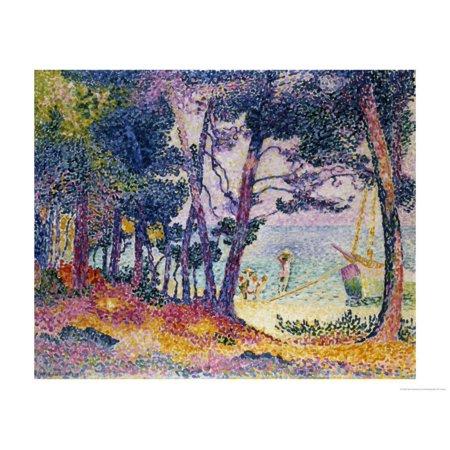 A Pine Grove, 1906 Print Wall Art By Henri Edmond Cross