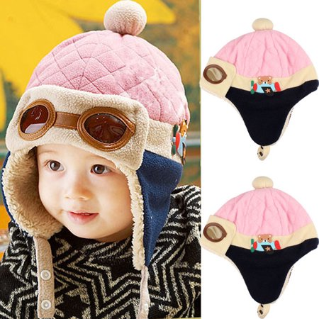 e7255f4f2 Outtop Boys Winter Warm Cap Hat Beanie Pilot Crochet Earflap Hats