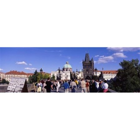 Panoramic Images PPI54239L Tourists walking in front of a building  Charles Bridge  Prague  Czech Republic Poster Print by Panoramic Images - 36 x 12 - image 1 of 1
