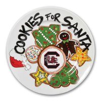 South Carolina Gamecocks Cookies For Santa Plate