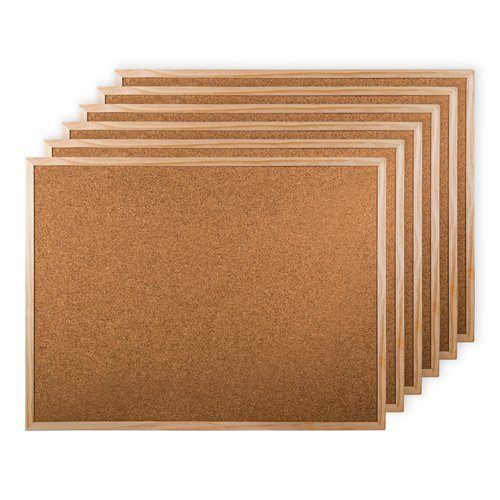 Winston Porter 6 Piece Wall Mounted Corkboard Set