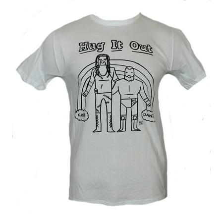 Hug It Out (WWE Mens T-Shirt -  Kane and Daniel