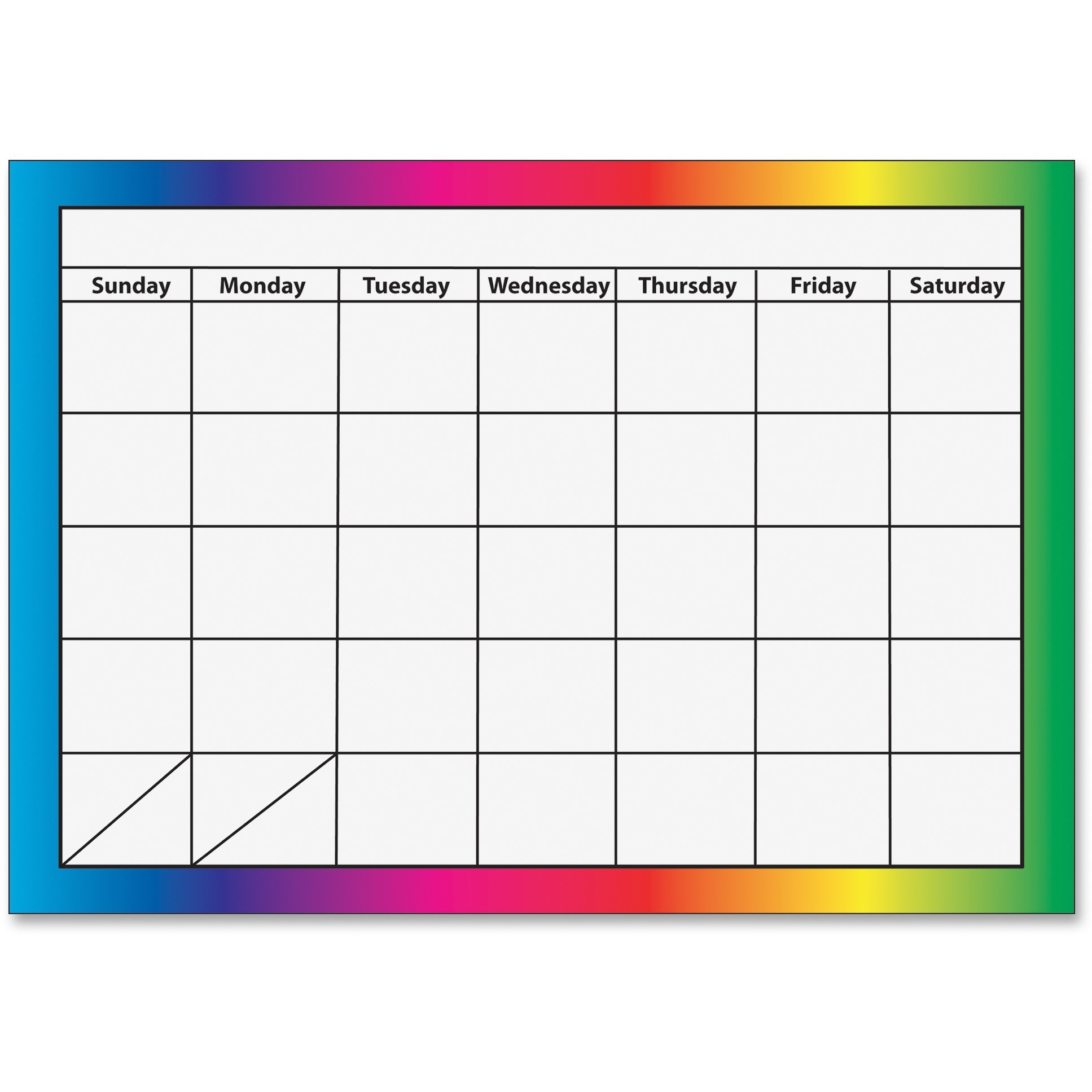 Ashley 1-month Dry Erase Magnetic Calendar, Multicolor