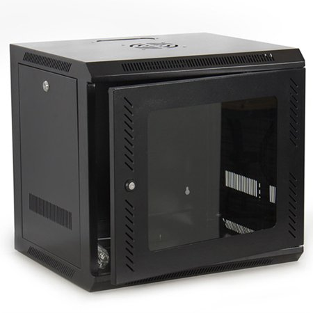 Best Choice Products 9U IT Wall Mount Network Server Cabinet Rack Built-In Fan Locking Lock &