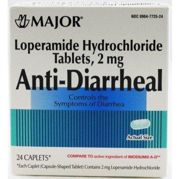 Lopéramide antidiarrhéiques Chlorhydrate comprimés 24 Count