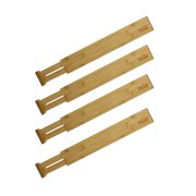 7Penn 17 - 22 Inch Spring Loaded Bamboo Drawer Dividers Drawer Organizer