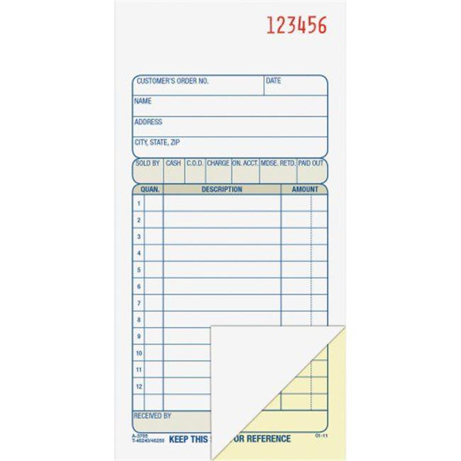 Adams Business Forms DC5805 5.56 x 8.43 in. Carbonless Duplicate Sales Order Book, 50 Sets by Adams Business Forms