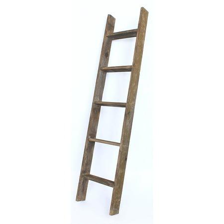 Barnwoodusa rustic 5 foot decorative bookcase ladder 100 - Reclaimed wood ladder shelf ...