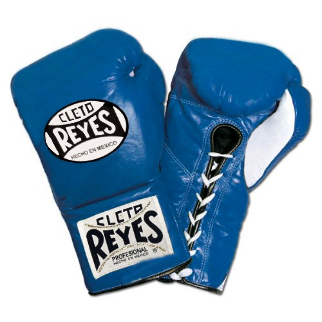Cleto Reyes Official Lace Up Competition Boxing Gloves - Blue