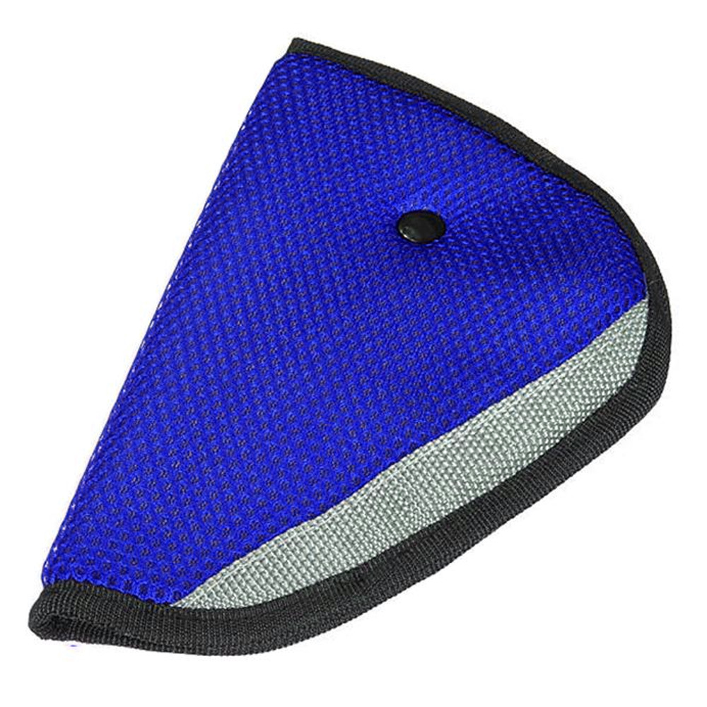 High Quality Car Safety Belt Strap Cover Shoulder Seat belt holder Adjuster - Blue