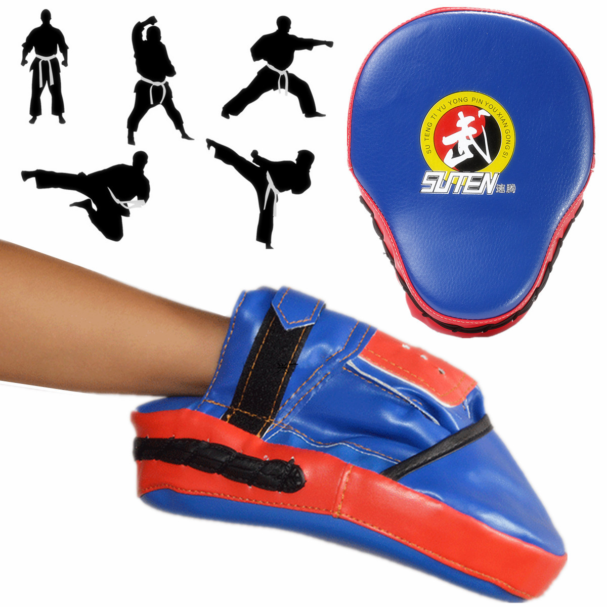 PU Leather MMA Kick Strike Shield Thai Pad Target Focus Boxing Training Punching Mitts