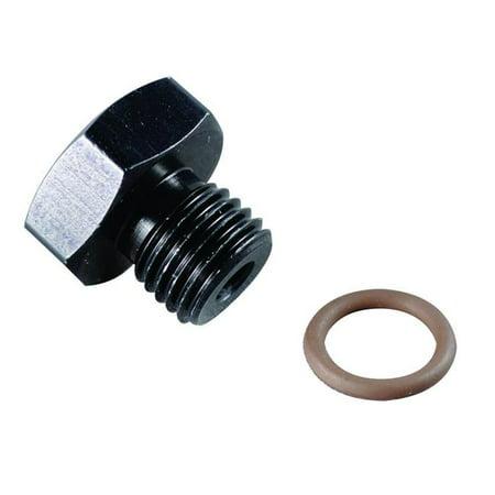 Fragola 481410-BL 0.88 in. -10 AN 14 Port Plug, Black - image 1 de 1