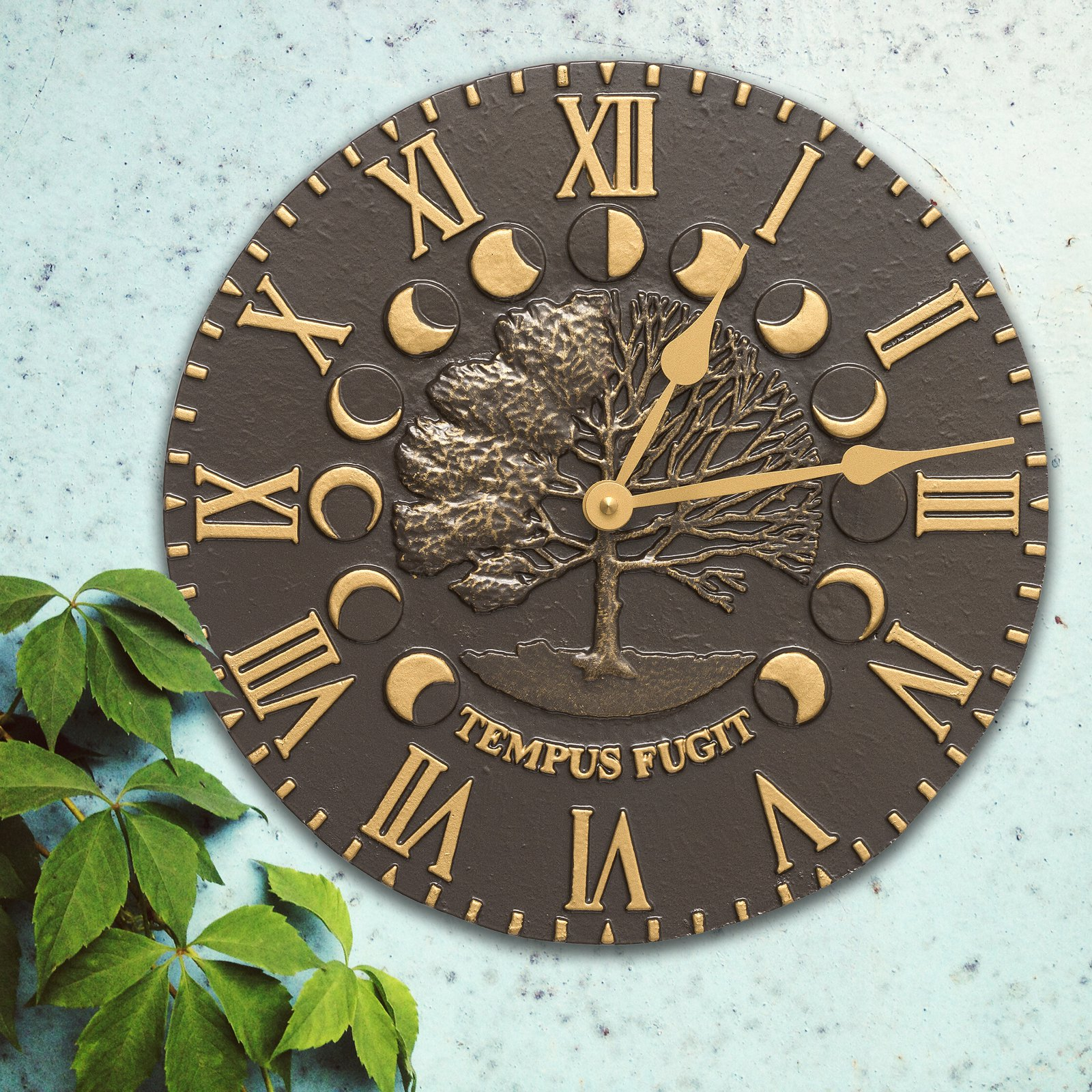 Whitehall Times and Seasons Outdoor Wall Clock