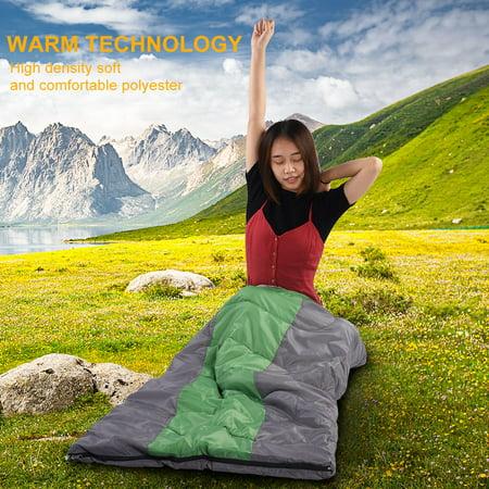 TOPINCN 2 Colors Portable Envelope Warm Comfortable Sleeping Bag for Outdoor Camping Hiking, Travel Sleeping Bag, Camping Sleeping Bag - image 1 of 8