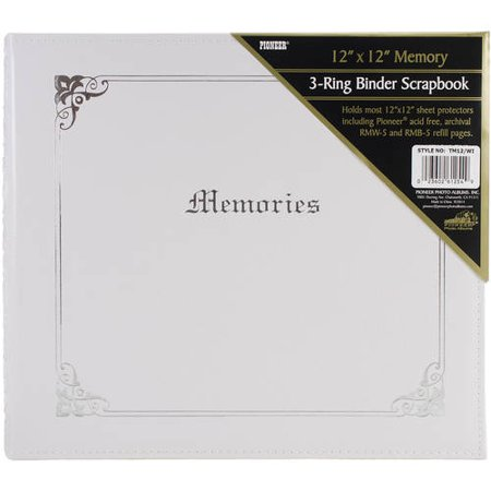 Pioneer Tm 12 Large 12x12 3 Ring Binder White Italian Memories