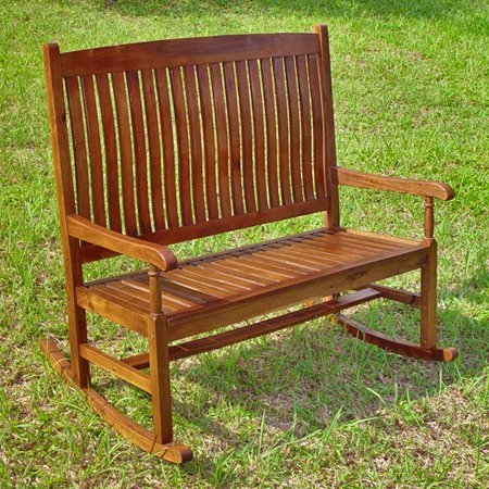Highland Tradition Oil Finish Double Porch Rocker