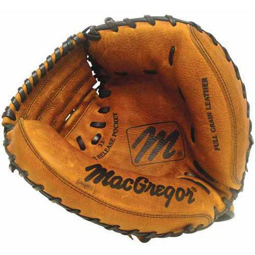 "MacGregor 33.5"" MAC Varsity Series Baseball Catchers Mitt, Right Hand Throw"