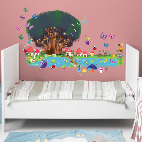 Mona Melisa Designs Peel and Play Fairy Garden Wall Decal