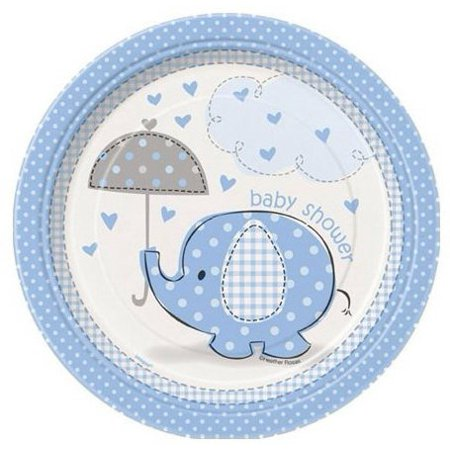 Blue Elephant Baby Boy Shower Edible Frosting  Image 8