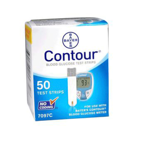 Bayer Ascensia Contour Diabetic Test Strips - 50 Ea