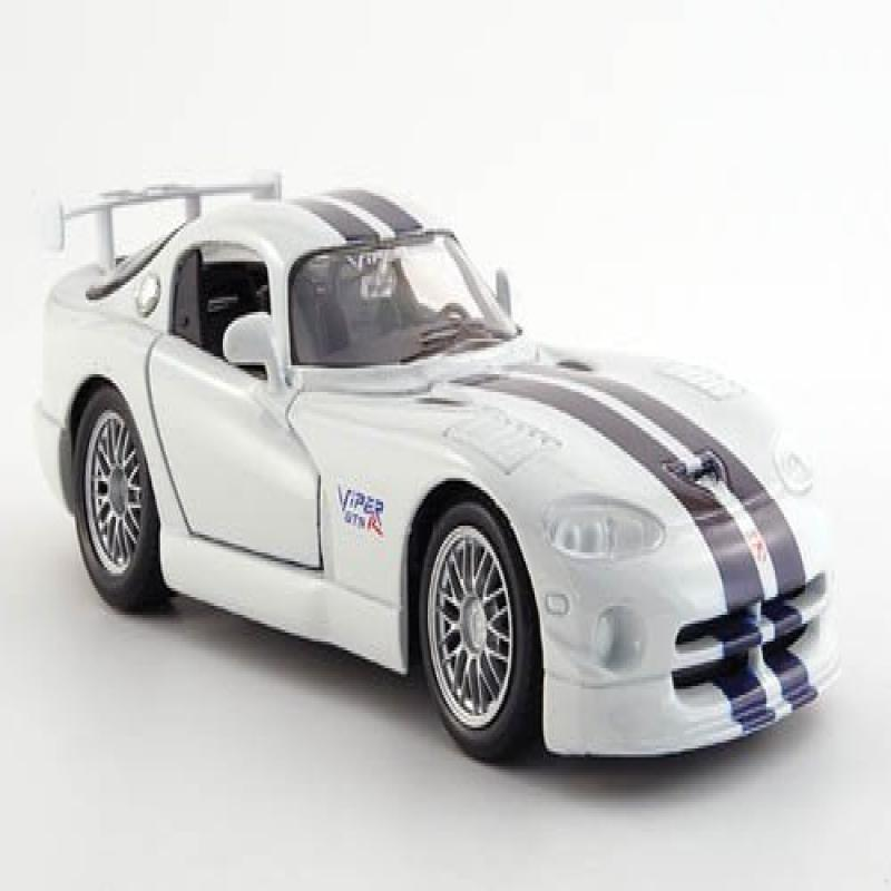 Dodge Viper GT 2, white with dark-blue stripes , Model Car, Ready-made, Maisto 1:24 by
