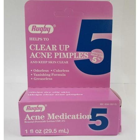 Benzoyl Peroxide 5% Acne Treatment Medication Lotion 1oz