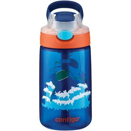 Contigo 14 Ounce French Blue Sharks Autospout Gizmo Flip Kids Bottle