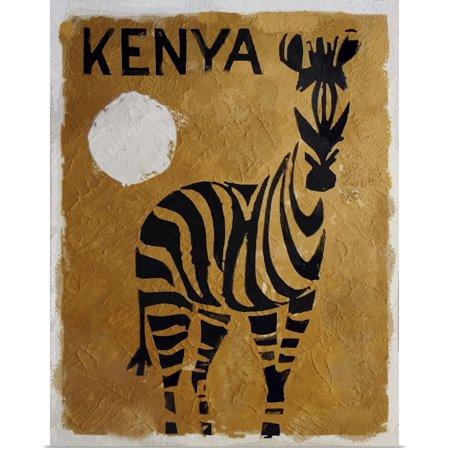 Great BIG Canvas   Rolled Vintage Apple Collection Poster Print entitled Kenya