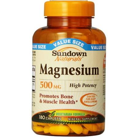 Sundown Naturals Magnesium 500 mg Caplets 180 ea ()