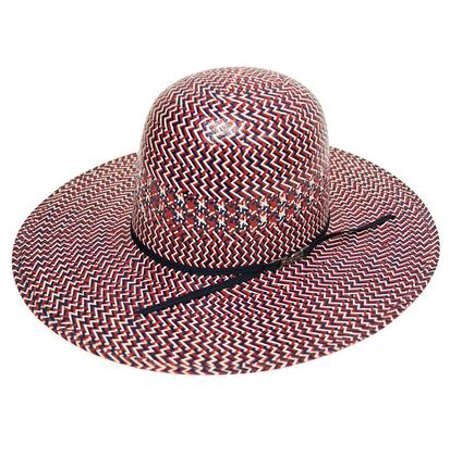 American Hat Company Red/Navy/White 4 1/4 Cowboy Hat