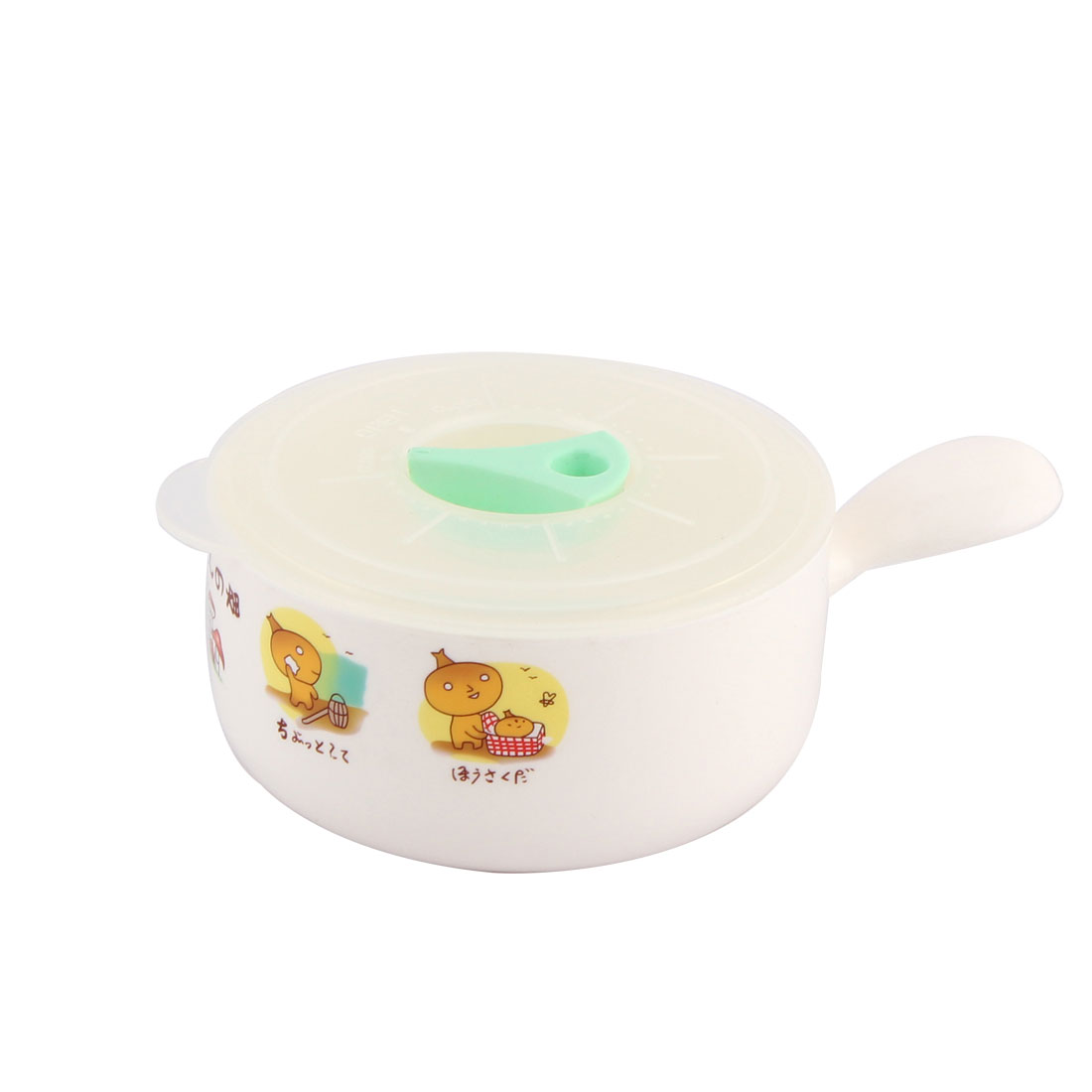 Plastic Cartoon Pattern Dishwasher Microwave Oven Composite Bowls White