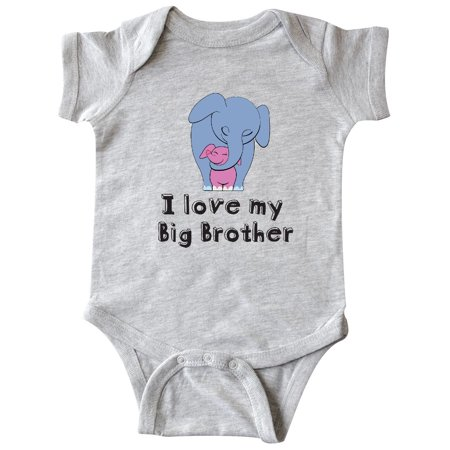 I Love my Big Brother Elephant Blue Pink Infant Creeper](Big Brother Baby Brother Halloween Costumes)