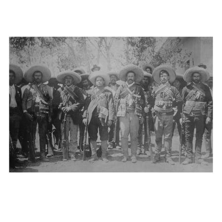 Pancho Villa and His Bandits with Bandoliers and Guns Print Wall Art
