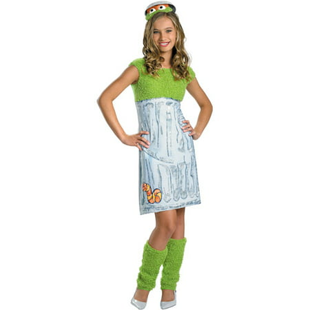 Sesame Street Oscar the Grouch Teen Halloween Costume - Teen Girl Nerd Costume