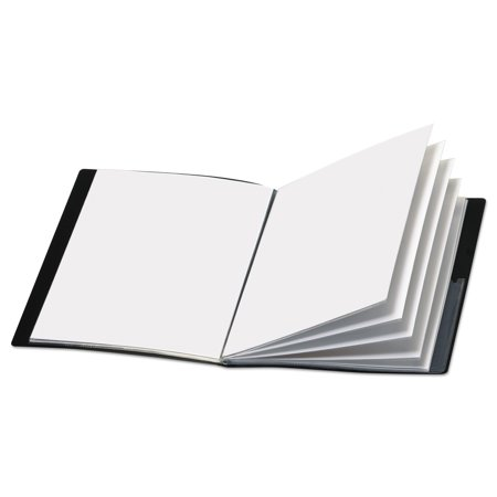 - ShowFile Display Book w/Custom Cover Pocket, 12 Letter-Size Sleeves, Black
