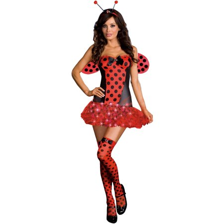 Halloween Bug Jokes (Light Me Up Ladybug Women's Adult Halloween)