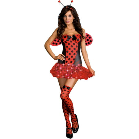 Light Me Up Ladybug Women's Adult Halloween Costume (Easy Ladybug Costume)