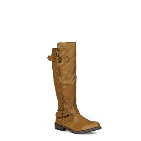 Nature Breeze Quilt Design Women's Riding Boots in Tan