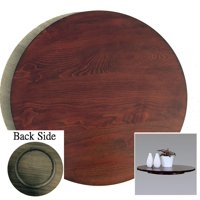 21-in Diameter Brown Wood Rotating Turntable Big Lazy Susan