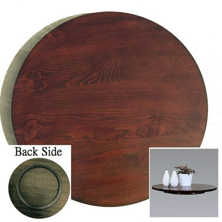 21-in Diameter Brown Wood Rotating Turntable Big Lazy - Lazy Susan Bearing