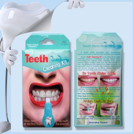 Nano Teeth Whitening Kit Tools Cleaning Stains Smoke Teeth Tools Kit Nano-Technology Gel (Best Way To Strip Stain)